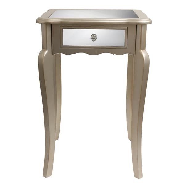 Silver Orchid Olivia Mirrored Side Table