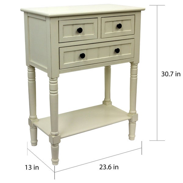 Beautiful Simplify Wood 3 Drawer Console Table   Free Shipping Today   Overstock.com    17383382