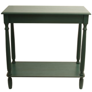 Laurel Creek Edmond Rectangle Console Table (Option: Teal)
