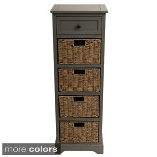 Montgomery 5-drawer Accent Table (Option: Grey)