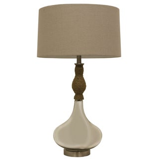 Mirror Mercury and Rope Table Lamp