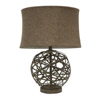 The Curated Nomad Sienna Strapped Steel Ball Lamp