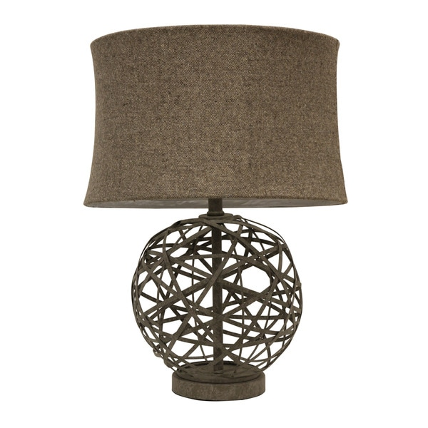 The Gray Barn Red Sky Strapped Steel Ball Lamp