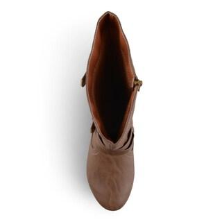Journee Kid's 'Kind' Tall Buckle Boots