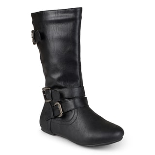 Journee Kid's 'Kind' Tall Buckle Boots