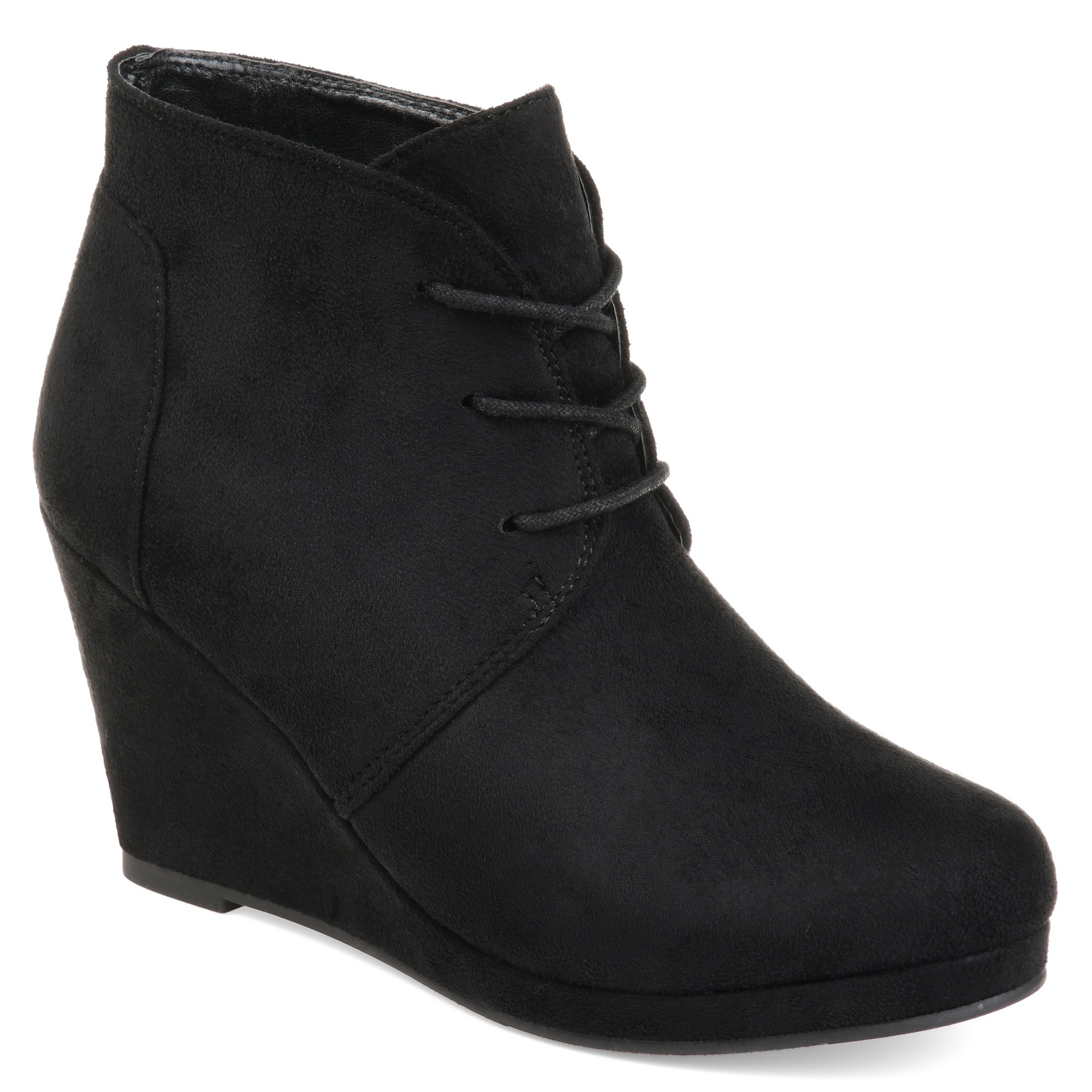 Enter' Faux Suede Wedge Booties