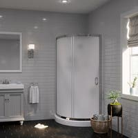 OVE Decors Breeze 34-inch Shower Enclosure Kit with Paris Base, Walls, Glass and Door