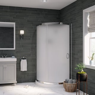 OVE Decors Breeze 36-inch Shower Enclosure Kit with Paris Base, Walls, Glass and Door