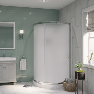 OVE Decors Breeze 38-inch Shower Enclosure Kit with Paris Base, Walls, Glass and Door