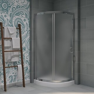 OVE Decors Breeze 31-inch Shower Enclosure Kit with Paris Base, Glass and Door