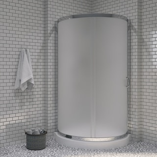 OVE Decors Breeze 36-inch Shower Enclosure Kit with Paris Base, Glass and Door