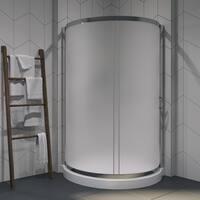 OVE Decors Breeze 38-inch Shower Enclosure Kit with Paris Base, Glass and Door