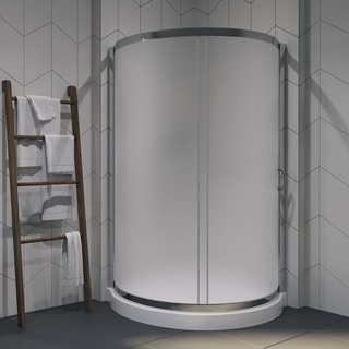 OVE Decors Breeze 38 Inch Shower Enclosure Kit With Paris Base, Glass And  Door