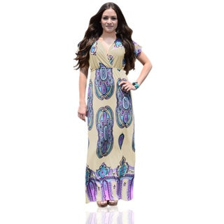 Peach Couture Tribal Aztec Printed Maxi Dress