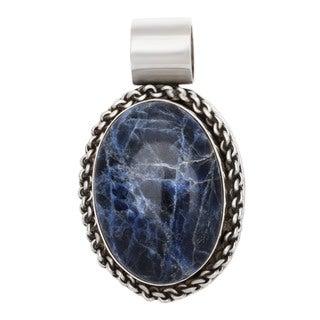 Kele & Co Sterling Silver Sodalite Necklace