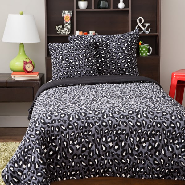 Plush Cheetah 4 Piece Comforter Set