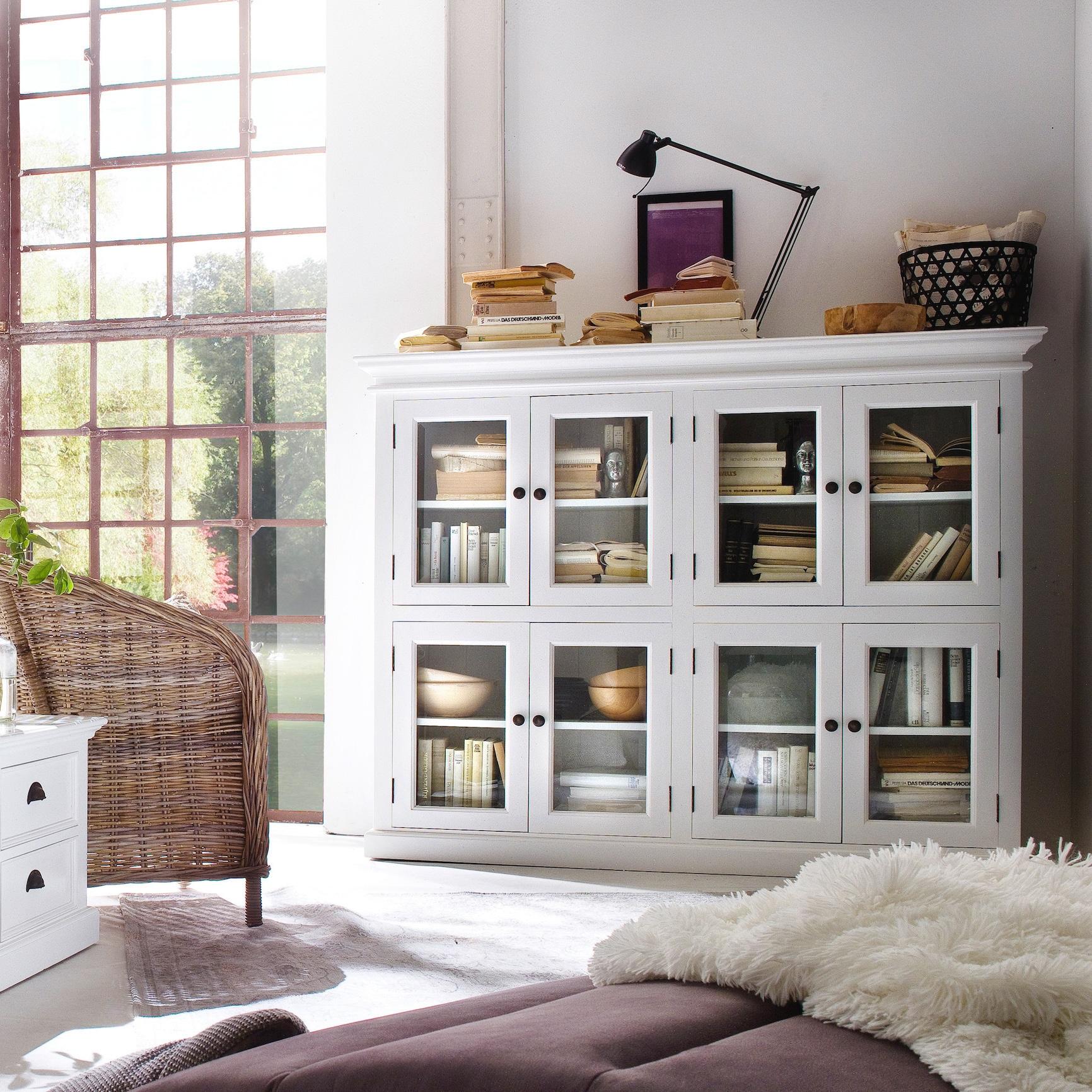 Nova Solo NovaSolo Mahogany Pantry with 8 Shelves (White)...