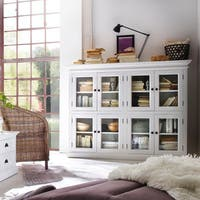 Havenside Home Lindhurst Mahogany Pantry with 8 Shelves (White)