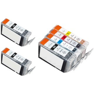 6 Pack Canon PGI-5 CLI-8 Ink Cartridge (3 thick black,  1 Cyan, 1 Magenta, 1 Yellow)
