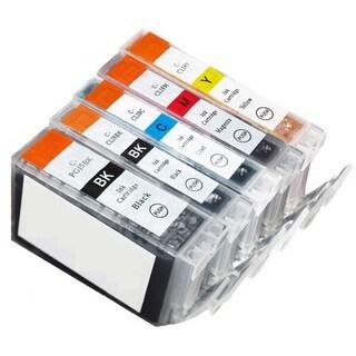 5 Pack Canon PGI-5 CLI-8 Ink Cartridge (1 thick black, 1 Black, 1 Cyan, 1 Magenta, 1 Yellow)
