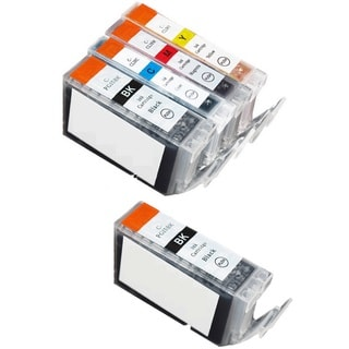 5 Pack Canon PGI-5 CLI-8 Ink Cartridge (2 thick black,  1 Cyan, 1 Magenta, 1 Yellow)