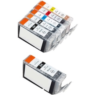 6 Pack Canon PGI-5 CLI-8 Ink Cartridge (2 thick black, 1 Black, 1 Cyan, 1 Magenta, 1 Yellow)