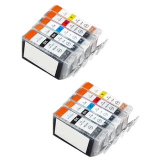 10 Pack Canon PGI-5 CLI-8 Ink Cartridge (4 thick black, 2 Black, 2 Cyan, 2 Magenta, 2 Yellow)