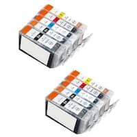 10 Pack Canon PGI-5 CLI-8 Ink Cartridge (4 thick black, 2 Black, 2 Cyan, 2 Magenta, 2 Yellow)