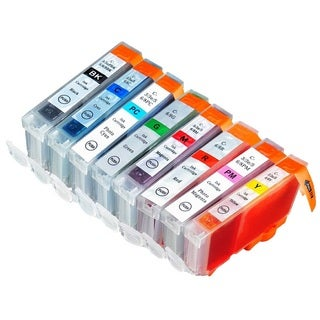 8 Pack Canon CLI-8 Ink Cartridge (1 Black, 1 Cyan, 1 Magenta, 1 Yellow, 1 Photo Cyan, 1 Photo Magenta, 1 Red, 1 Green)