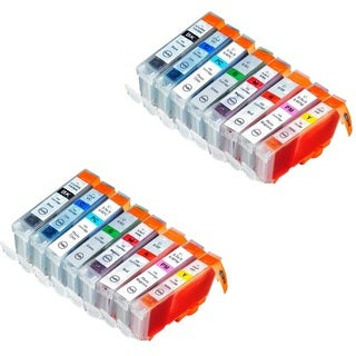 16 Pack Canon CLI-8 Ink Cartridge 2 Black, 2 Cyan, 2 Magenta, 2 Yellow, 2 Photo Cyan, 2 Photo Magenta, 2 Red, 2 Green)