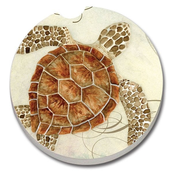 Counterart absorbent stone car coaster sea turtle set of - Stone absorbent coasters ...