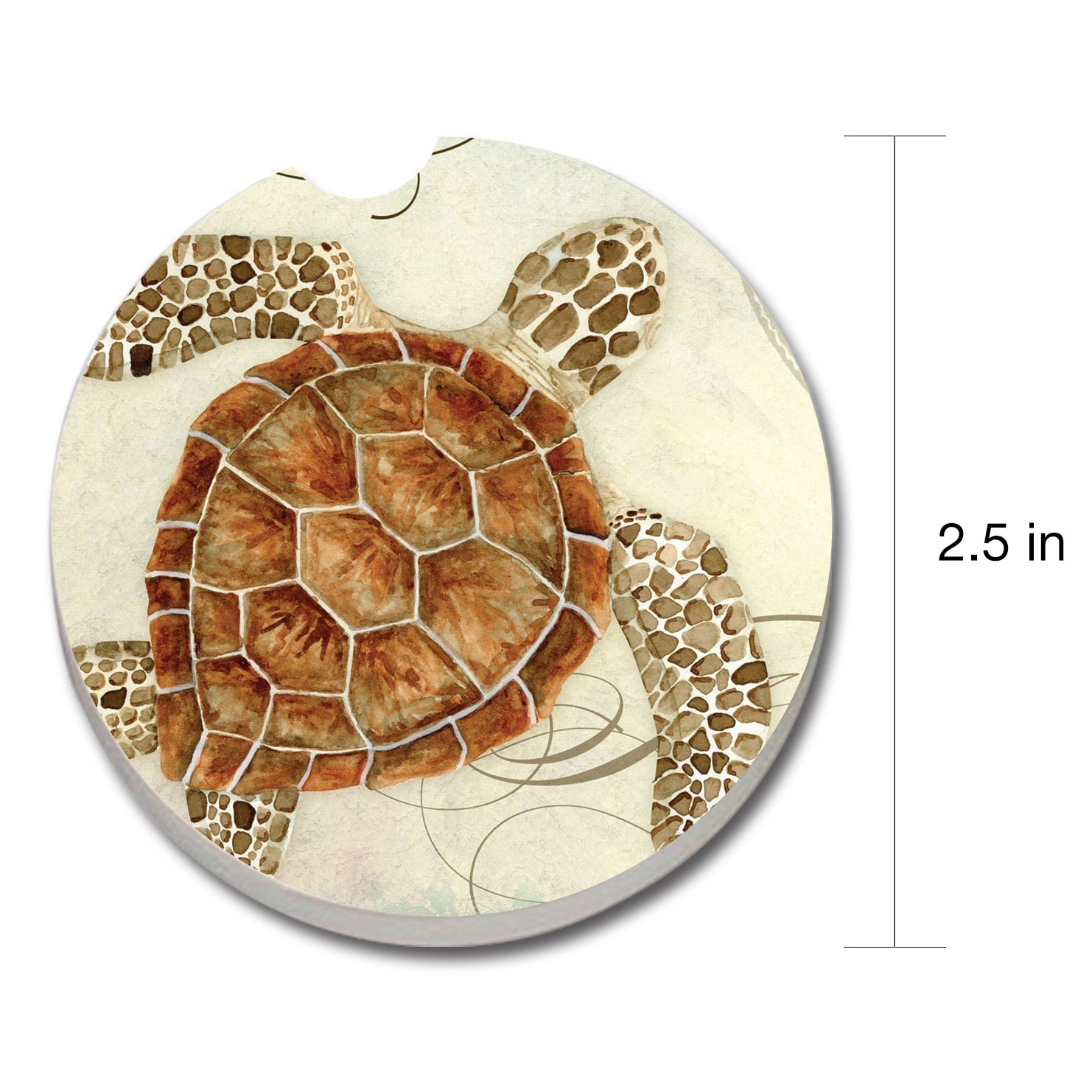 Counterart Absorbent Stone Car Coaster Sea Turtle Set Of 2 4x6 Overstock 10266578