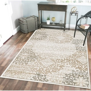 Admire Home Living Plaza Mia Bone area rug (3'3 x 4'11) - 3'3 x 4'11