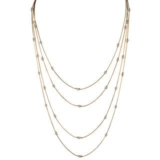 Goldtone Layered Simulated Pearl Necklace