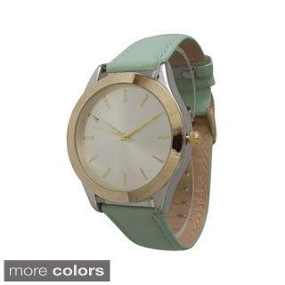Olivia Pratt Classic Faux Leather Watch