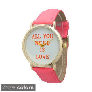 Olivia Pratt All You Need Is Love Leather Watch