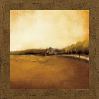 Tandi Venter-Rural Landscape l 28 x 28  Framed Art Print