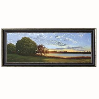 Julie Peterson-Lakeside Sunrise 40 x 16 Framed Art Print