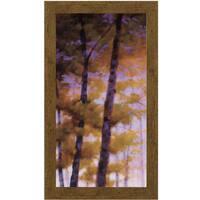 Robert Striffolino-Purple Wood l  16 x 28 Framed Art Print