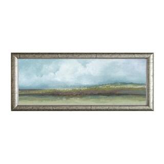 Tita Quintero 'Jaded Earth l' 40 x 16 Framed Art Print