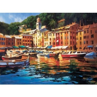 Michael O'Toole-Portofino Colors 41 x 30 Gallery Wrap Canvas