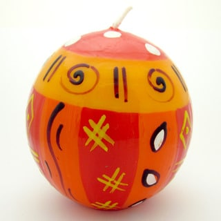Hand-Painted Ball Candle - Zahabu Design - Nobunto Candles (South Africa)