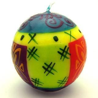 Hand-Painted Ball Candle - Matuko Design - Nobunto Candles (South Africa)