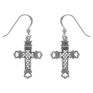 Carolina Glamour Collection Sterling Silver Celtic Cross Dangle Earrings