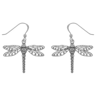 Sterling Silver Celtic Triskele Dragonfly Dangle Earrings