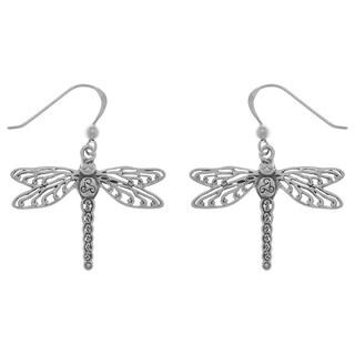 Sterling Silver Celtic Triskele Dragonfly Dangle Earrings