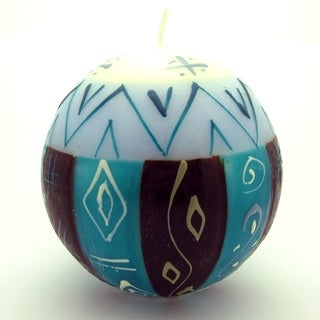 Hand-Painted Ball Candle - Maji Design - Nobunto Candles (South Africa)