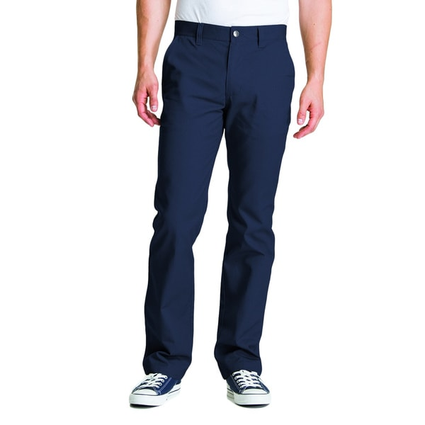 Shop Lee Young Men S Navy Straight Leg College Pant Free