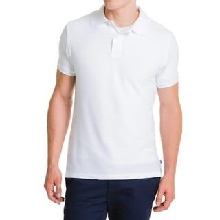 Lee Young Men's White Short Sleeve Pique Polo