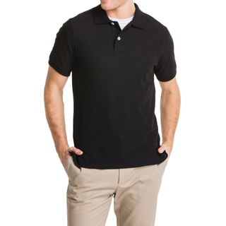Lee Young Men's Black Short Sleeve Pique Polo